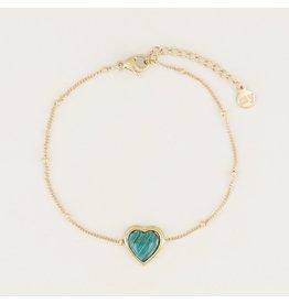 My Jewellery Armband Malachite Hartje Goud