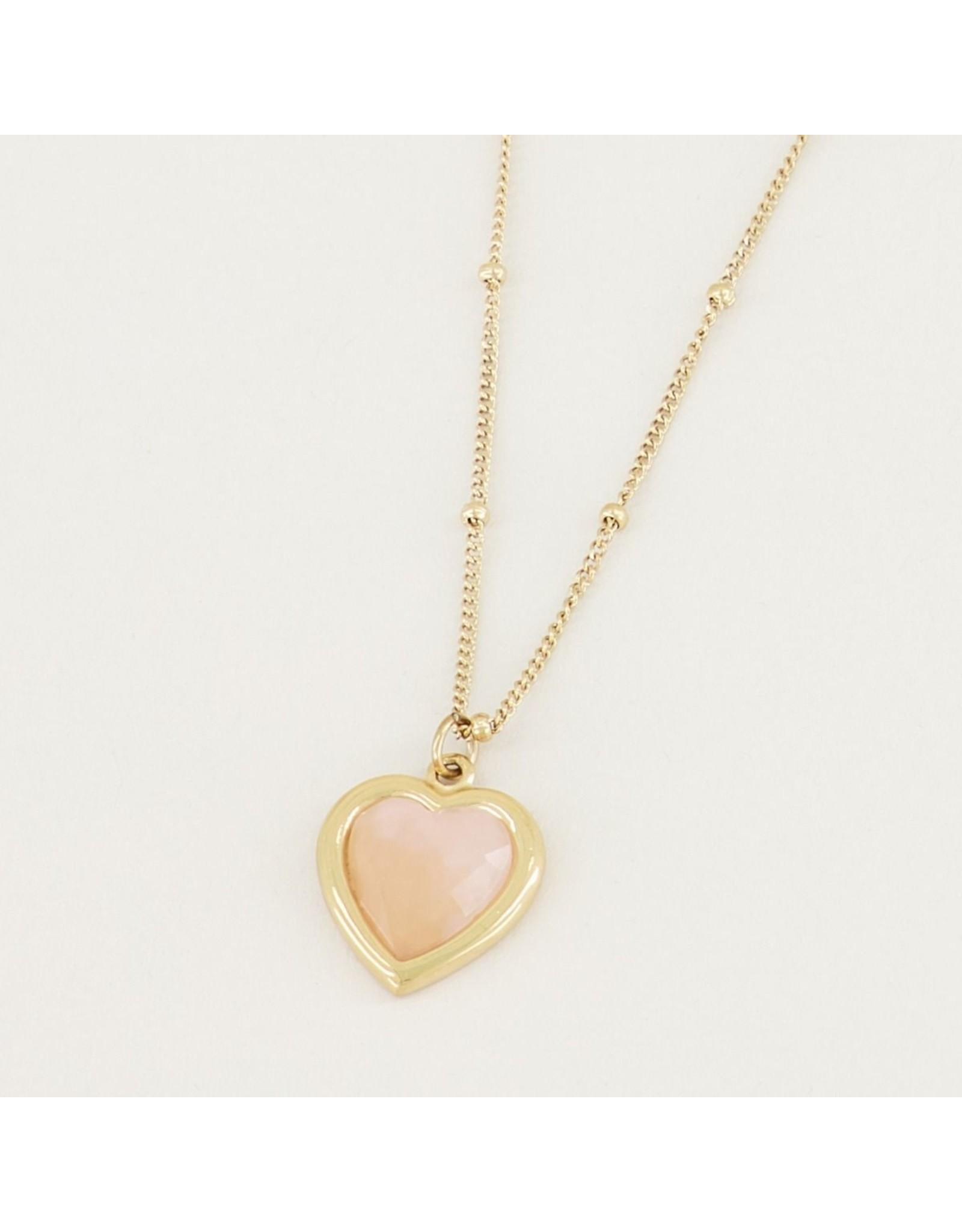 My Jewellery Ketting Rose Quartz Hartje