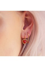 My Jewellery One Piece Oorring Red Jade