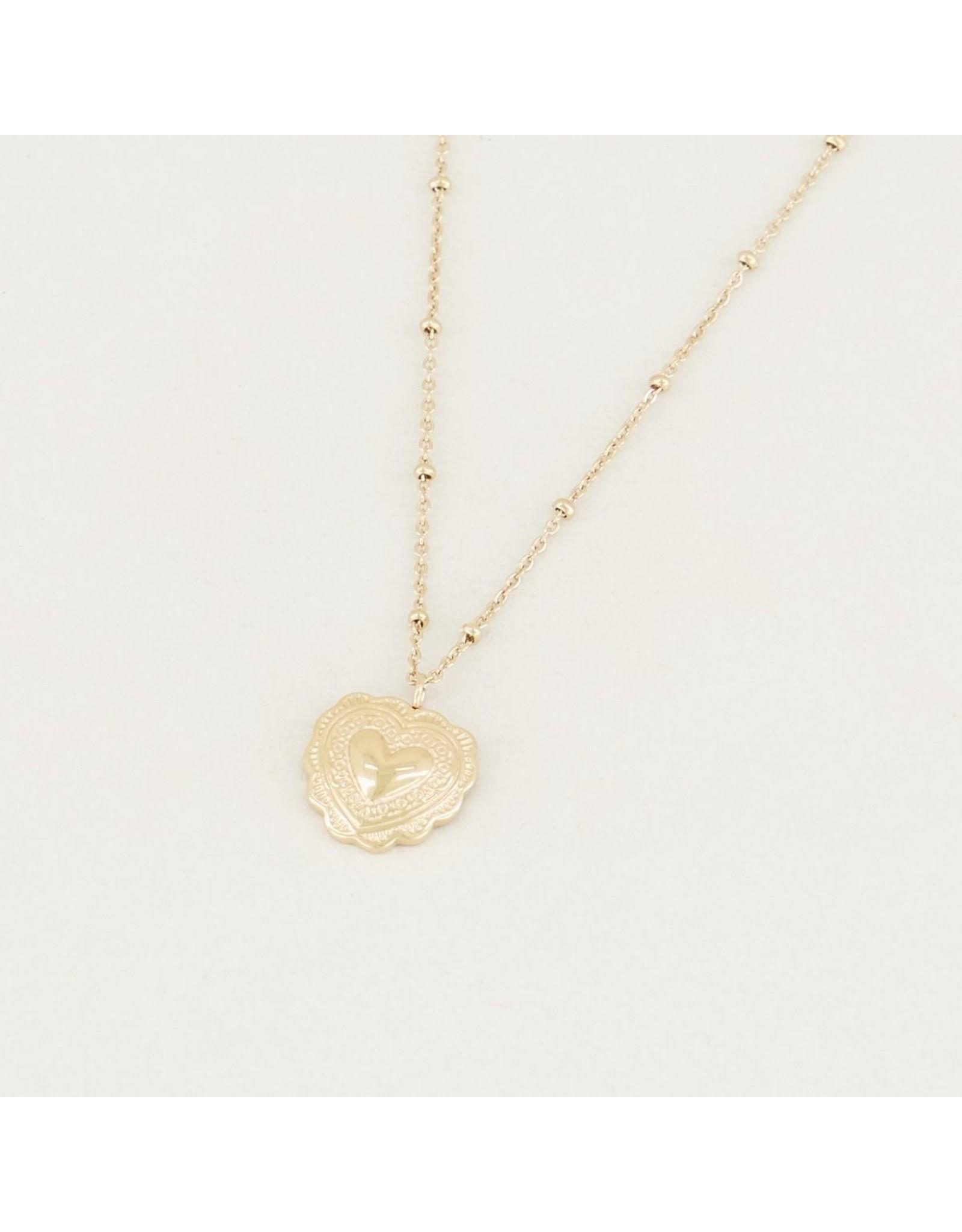 My Jewellery Ketting Hartje Gedetailleerd Goud