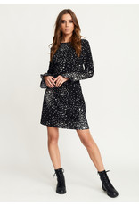 Rut & Circle Isa Dress Black/White Star