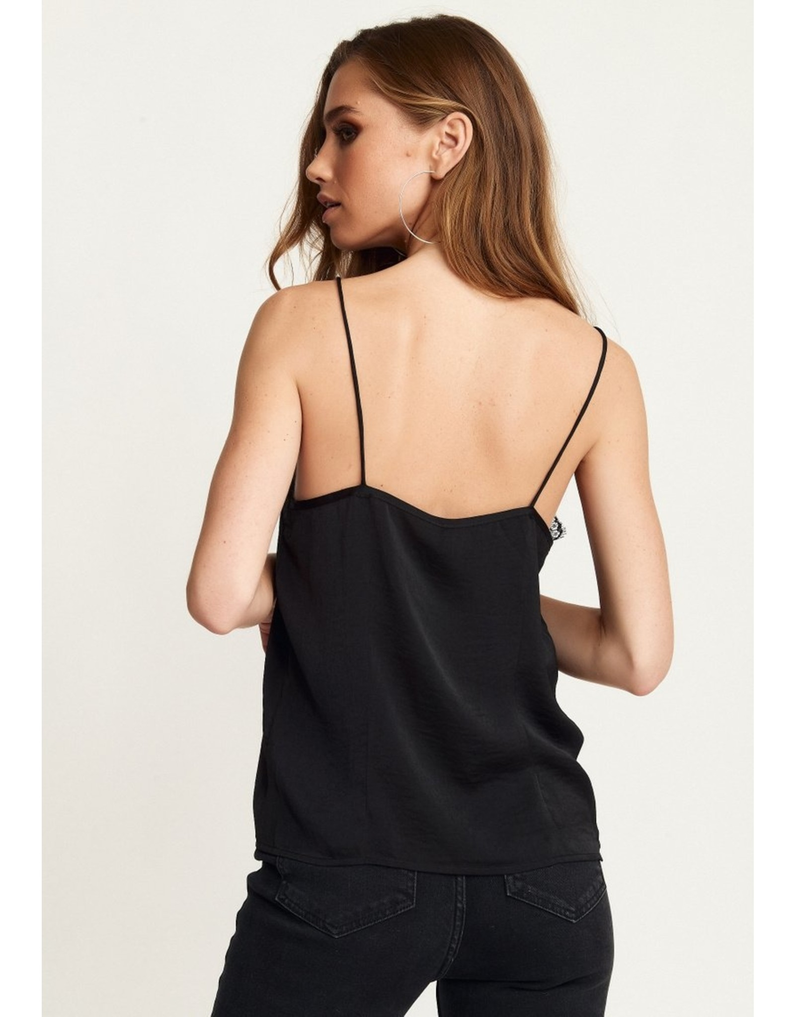 Rut & Circle Stine Lace Singlet Black