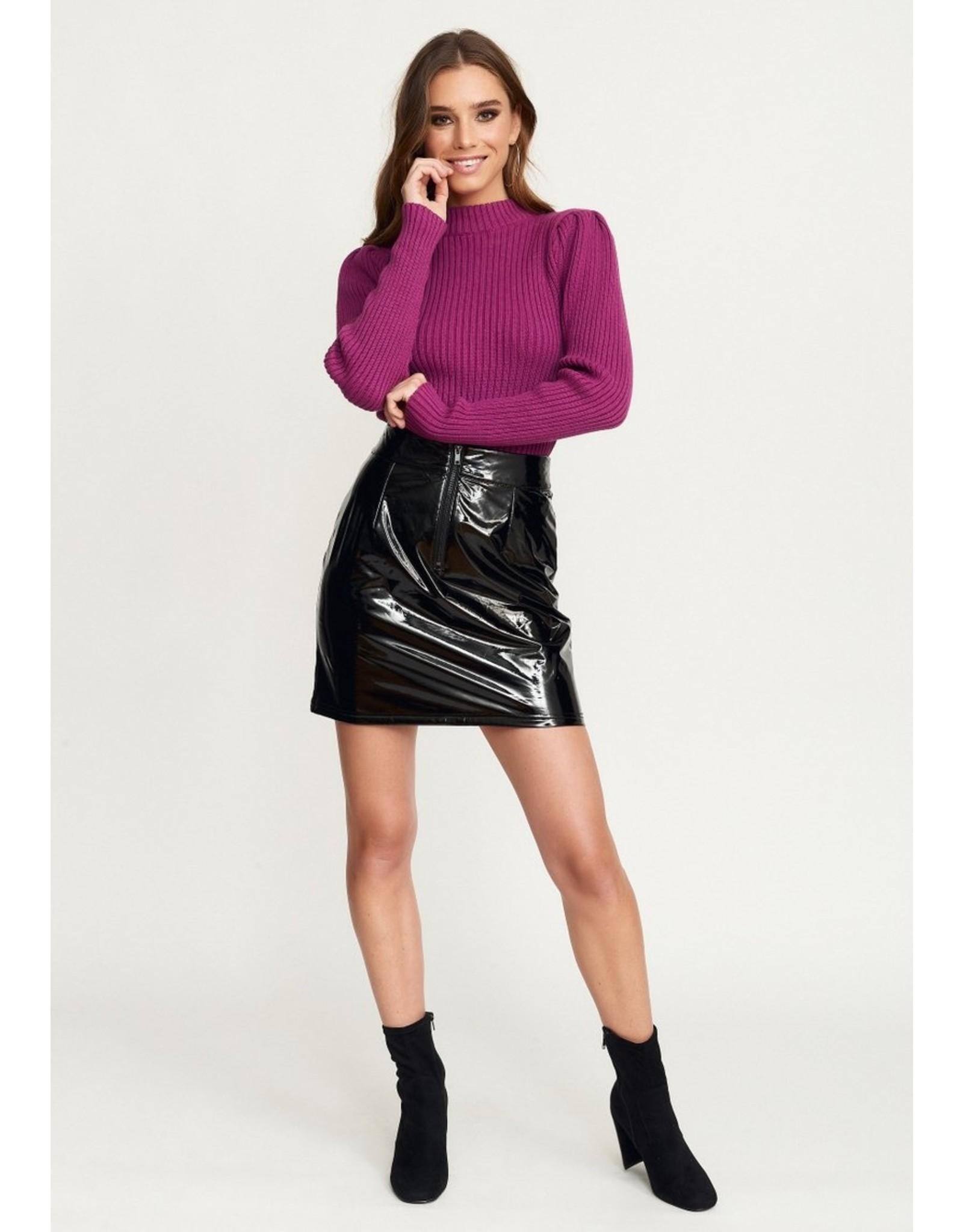 Rut & Circle Nina Puff Knit Pop Purple
