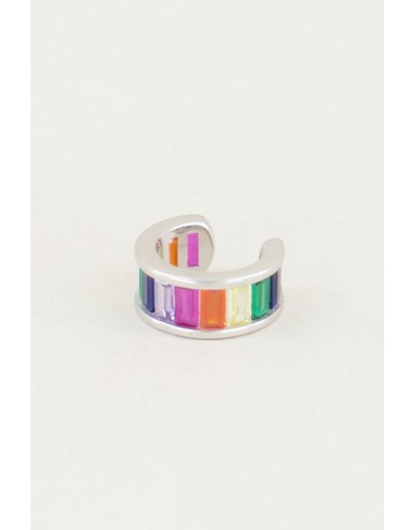 My Jewellery Ear cuff regenboog blokjes