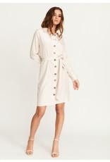 Rut & Circle Andrea Button Dress Light Beige