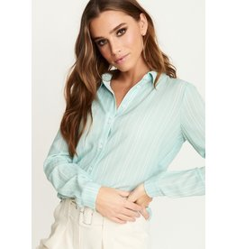 Rut & Circle Celine Shirt Mint Green Stripe