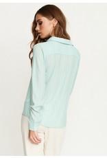 Rut & Circle Celine Shirt Mint Green Stripe