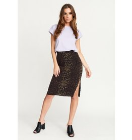Rut & Circle Leo Split Skirt Green Leo
