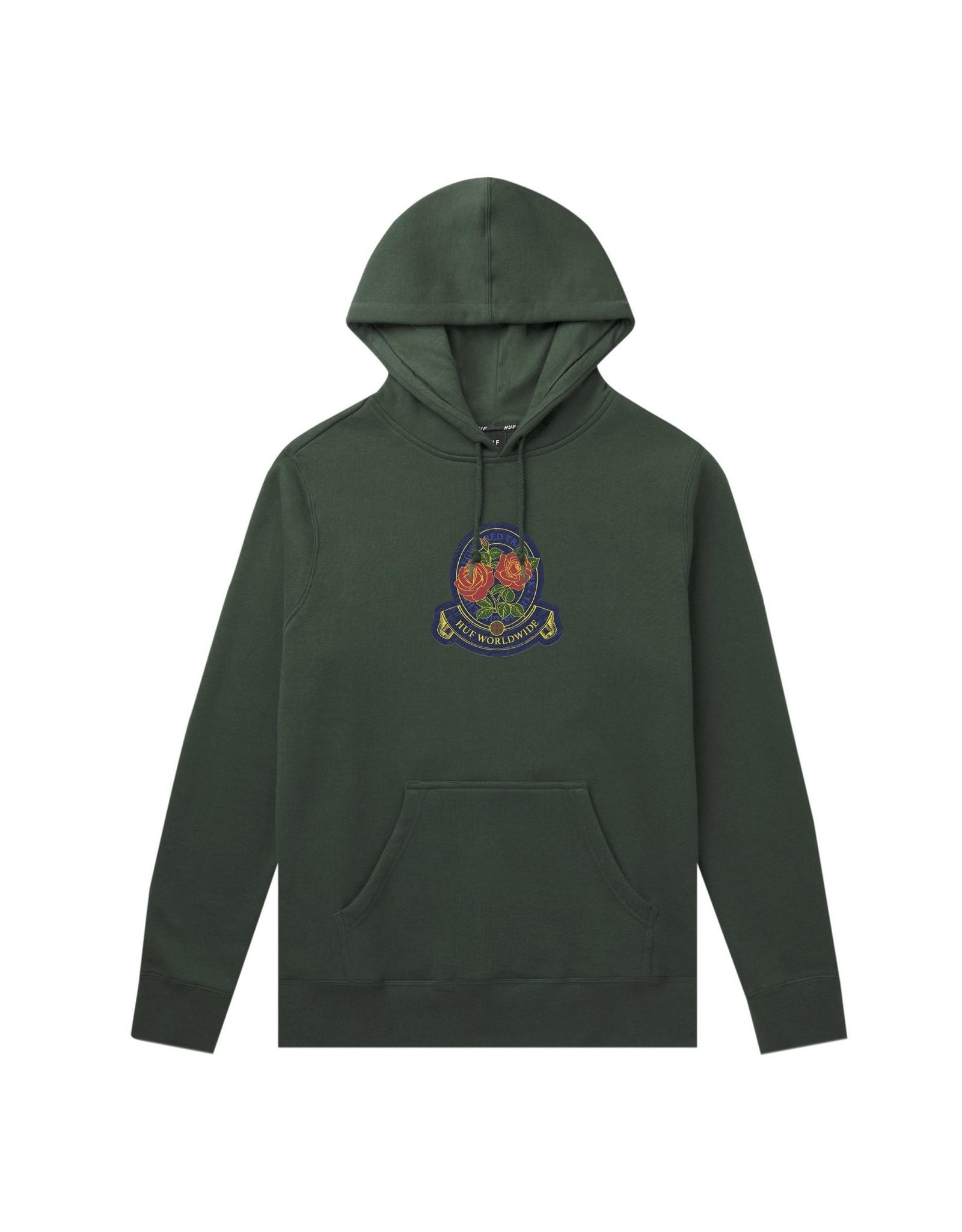 HUF Huf Tenderloin Rose Crest P/O Hoodie - Sycamore