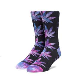 HUF Huf Plantlife Tiedye Leaves Socks - Black