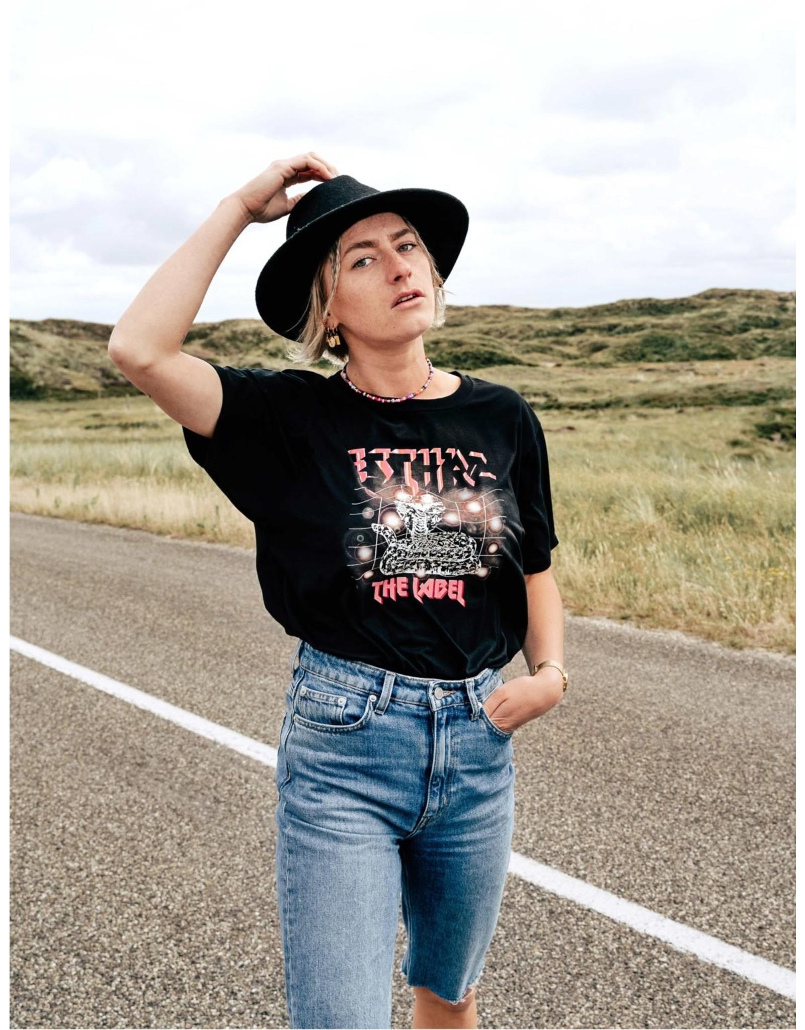 Esthrz Esthrz Pink Snake T-shirt - Black