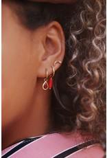 My Jewellery Oorringen met rode druppel