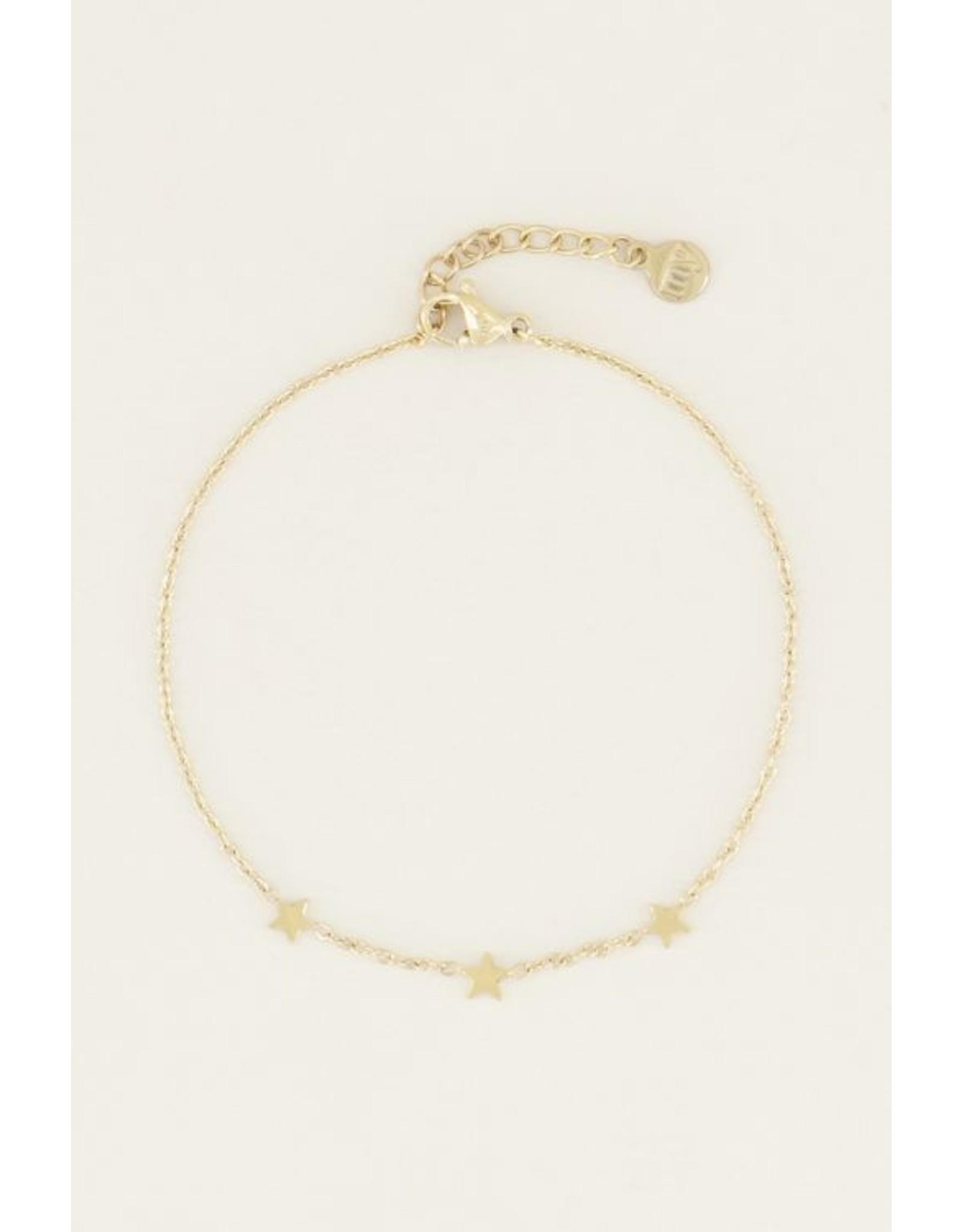 My Jewellery Armband Drie sterretjes Goud