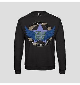 Pinned by k Girls Rule Sweater Black