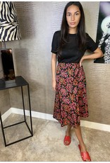 By Clara Red Flower Skirt