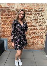 Kilky Lila & Black Flower Dress