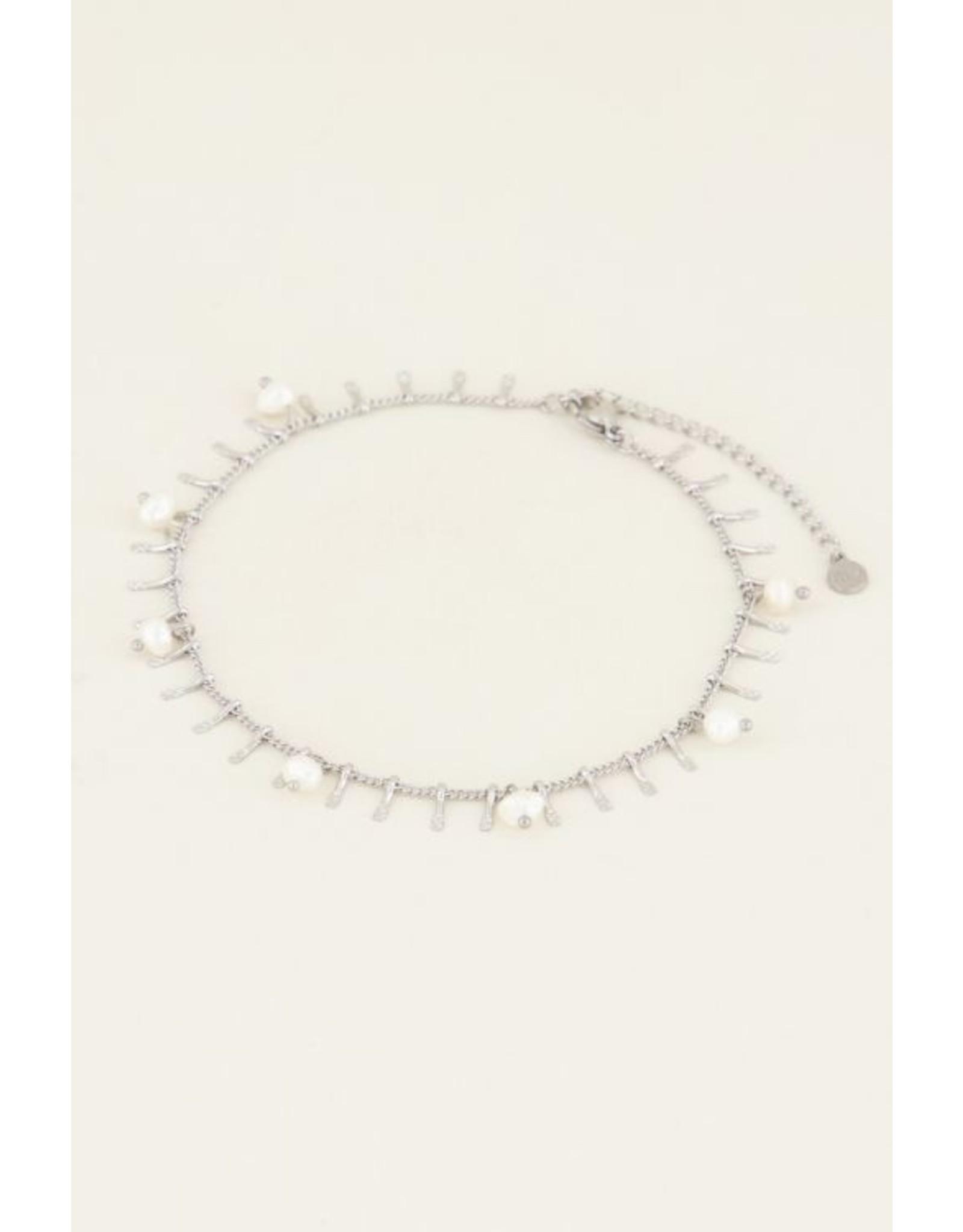 My Jewellery Enkelbandje staafjes & parels