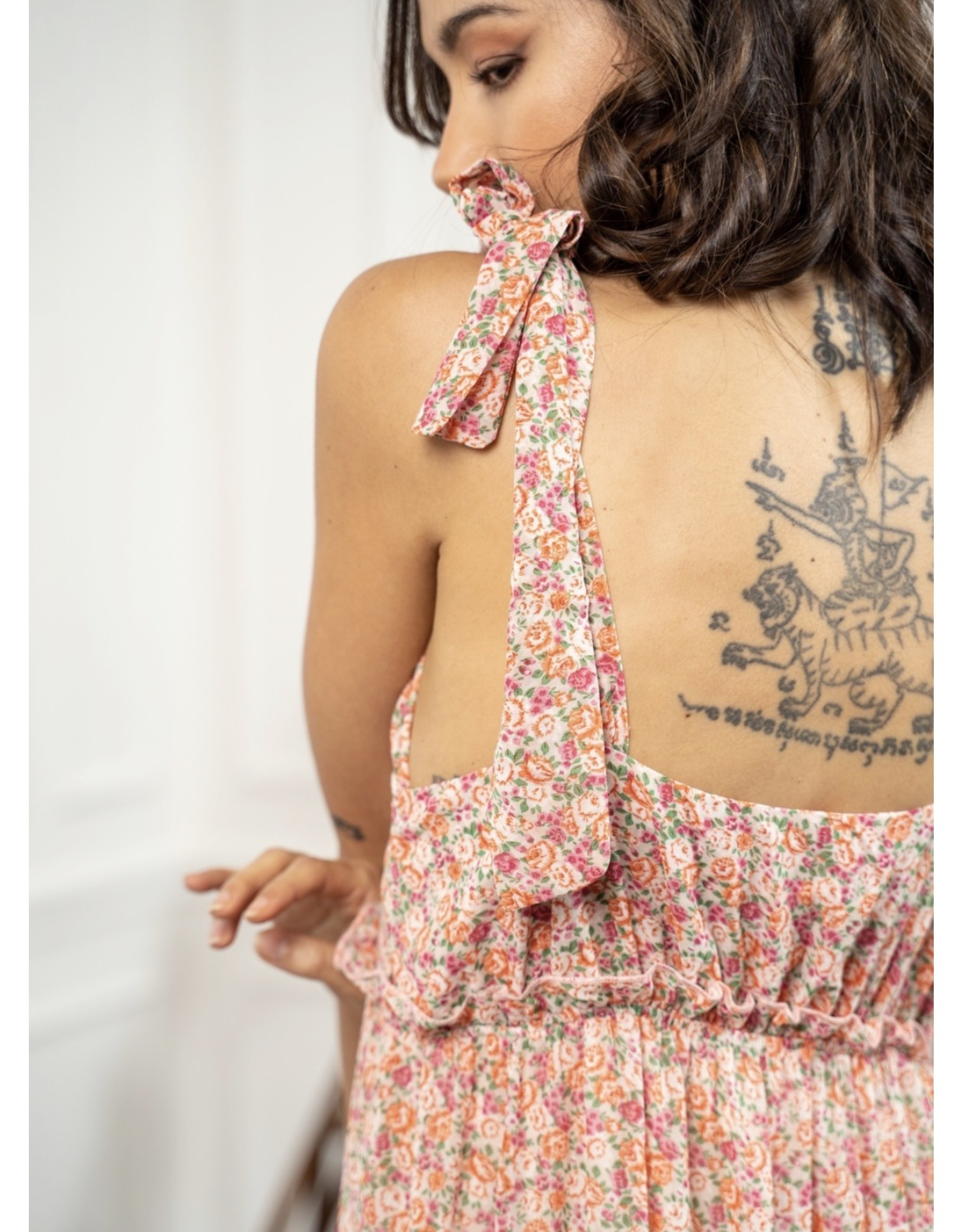 Kilky Rosé Flower Dress
