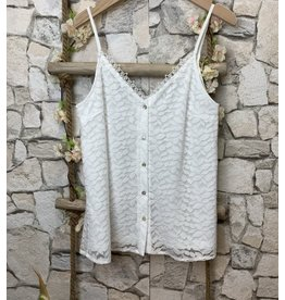Kilky Leaves Top White