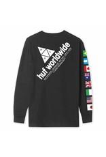 HUF Flag Union L/S Tee - Black