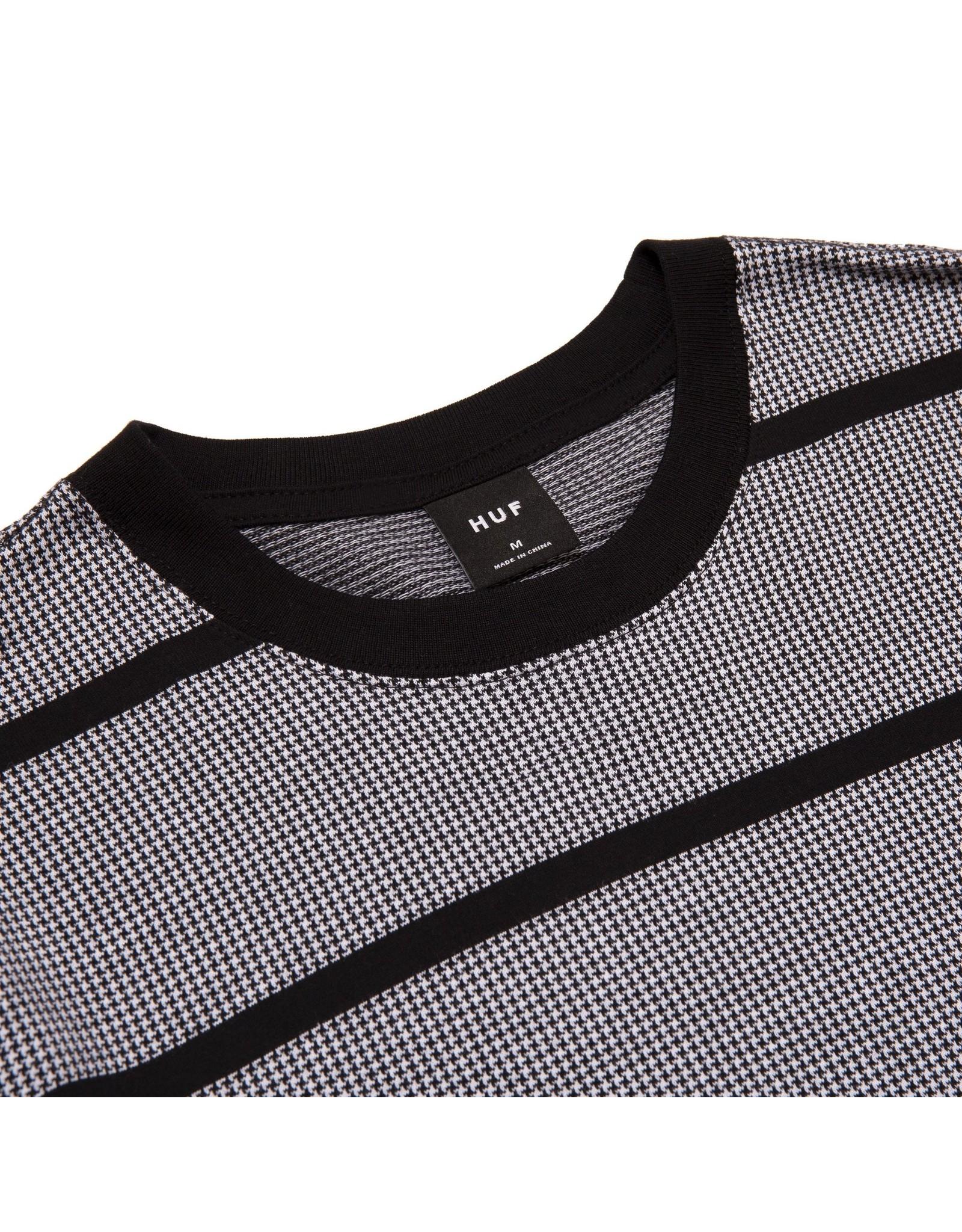 HUF Houndstooth Stripe L/S Knit - Black