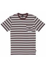HUF Jett Stripe S/S Knit Top - Deep Maghony