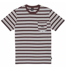 HUF Jett Stripe S/S Knit Top - Deep Maghony