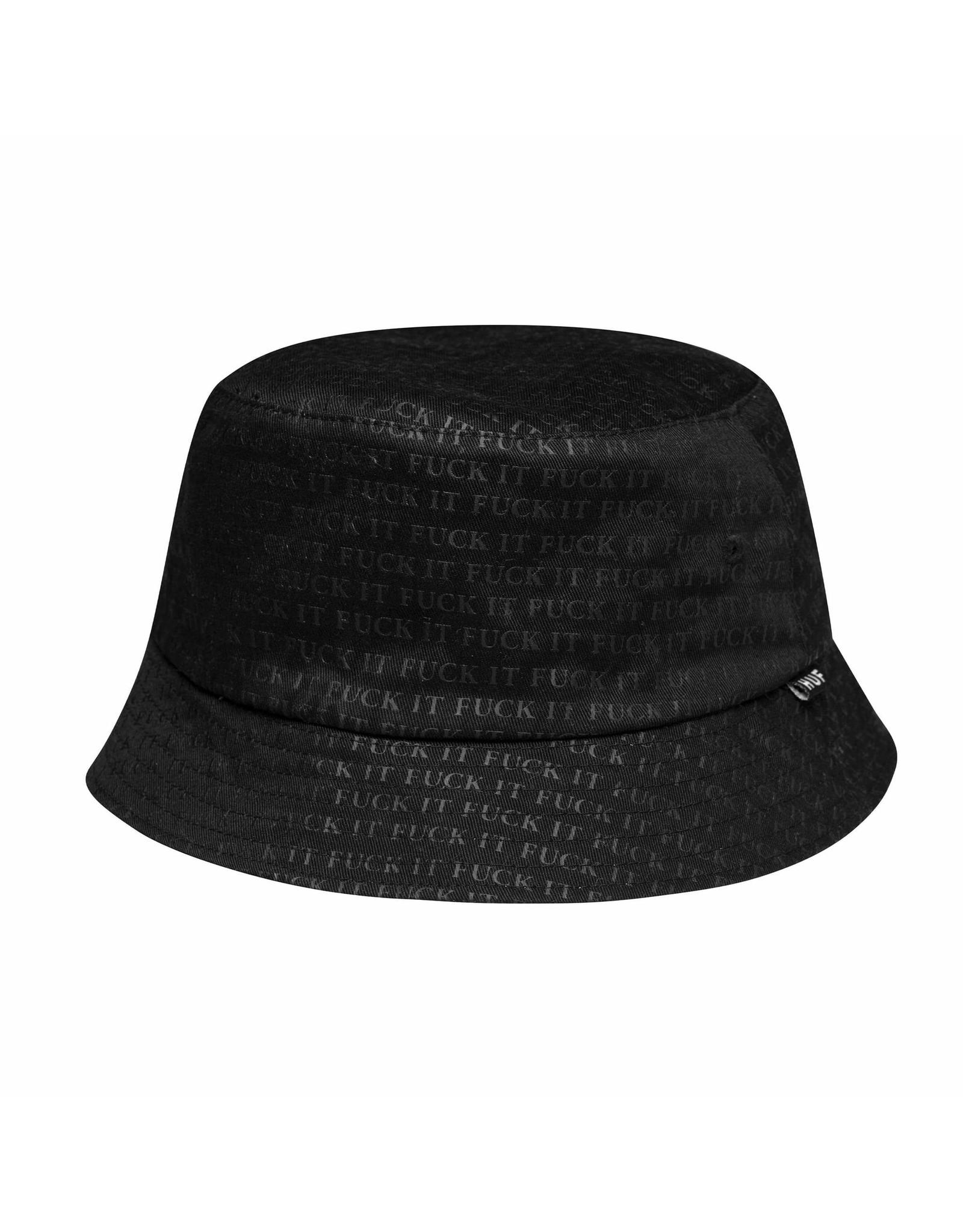 HUF Fuck It Reversible Bucket Hat - Black/White
