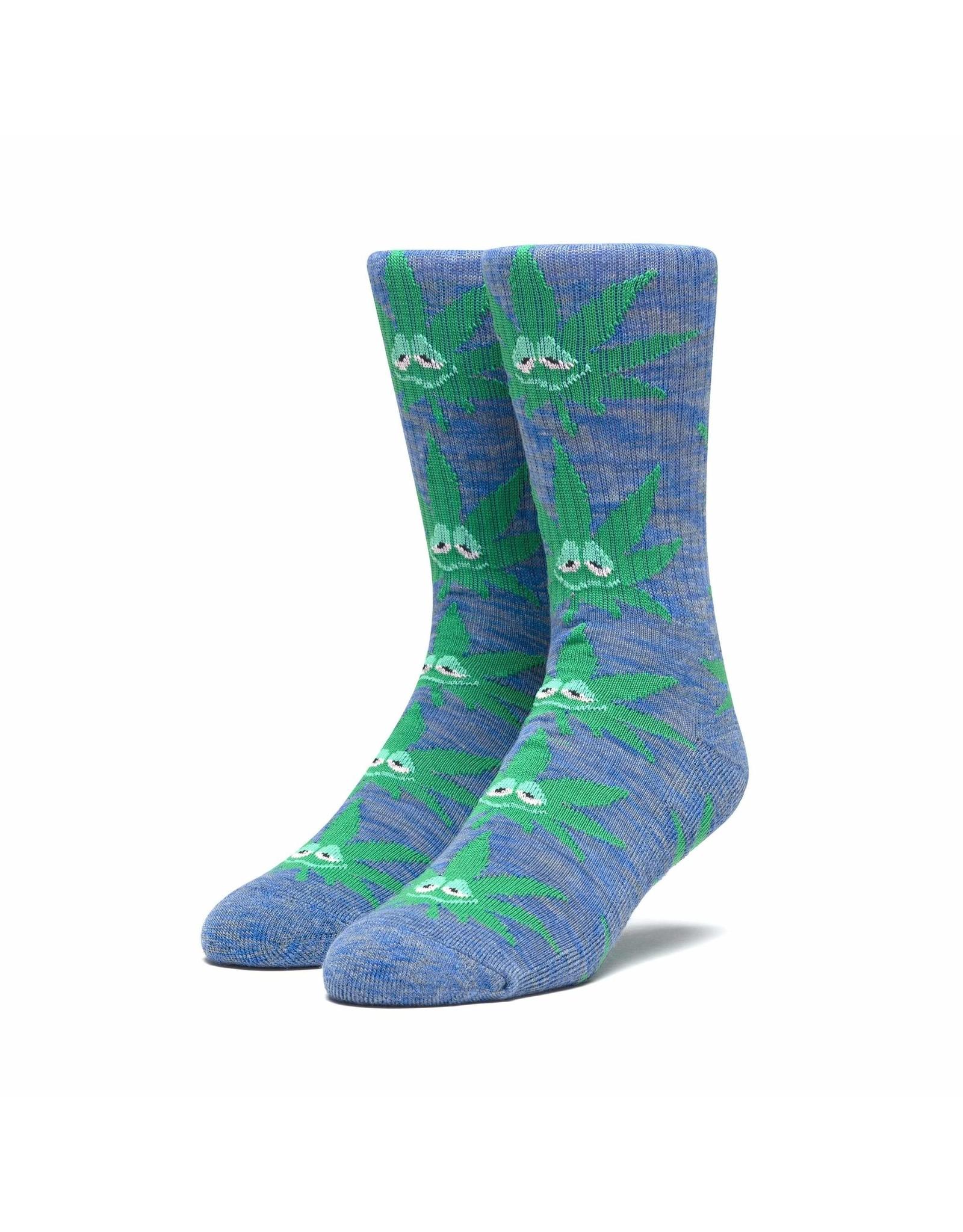 HUF Green Buddy Sock - French Navy