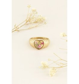 My Jewellery Ring Wild Flower Hartje Goud