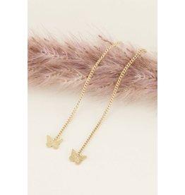 My Jewellery Oorhangers Vlinder Goud