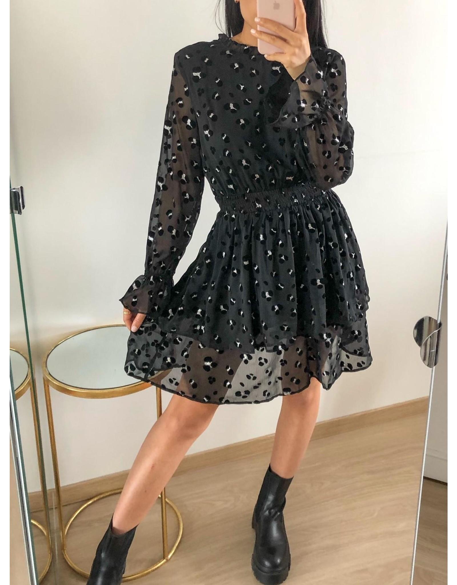 Eight Paris Serena dress - Black Leopard