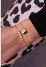 My Jewellery Armband drie bloemetjes  Goud 135035