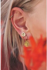 My Jewellery Oorhangers bloem & kettinkje goud 136070