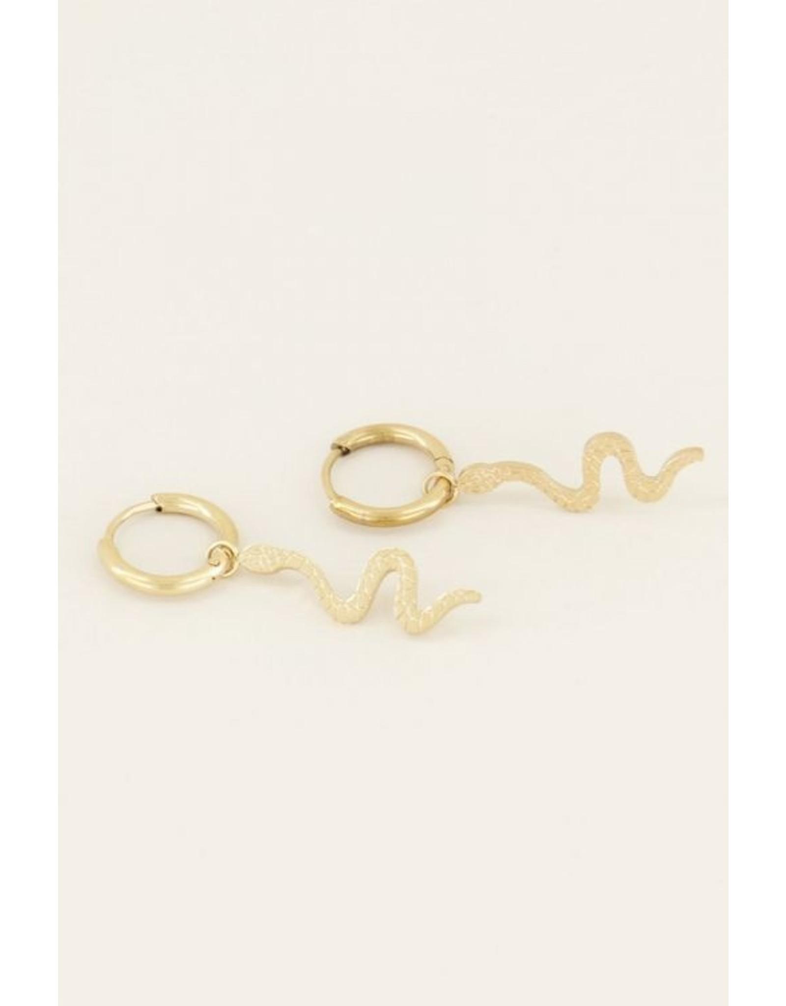 My Jewellery Oorringen slang goud  128983