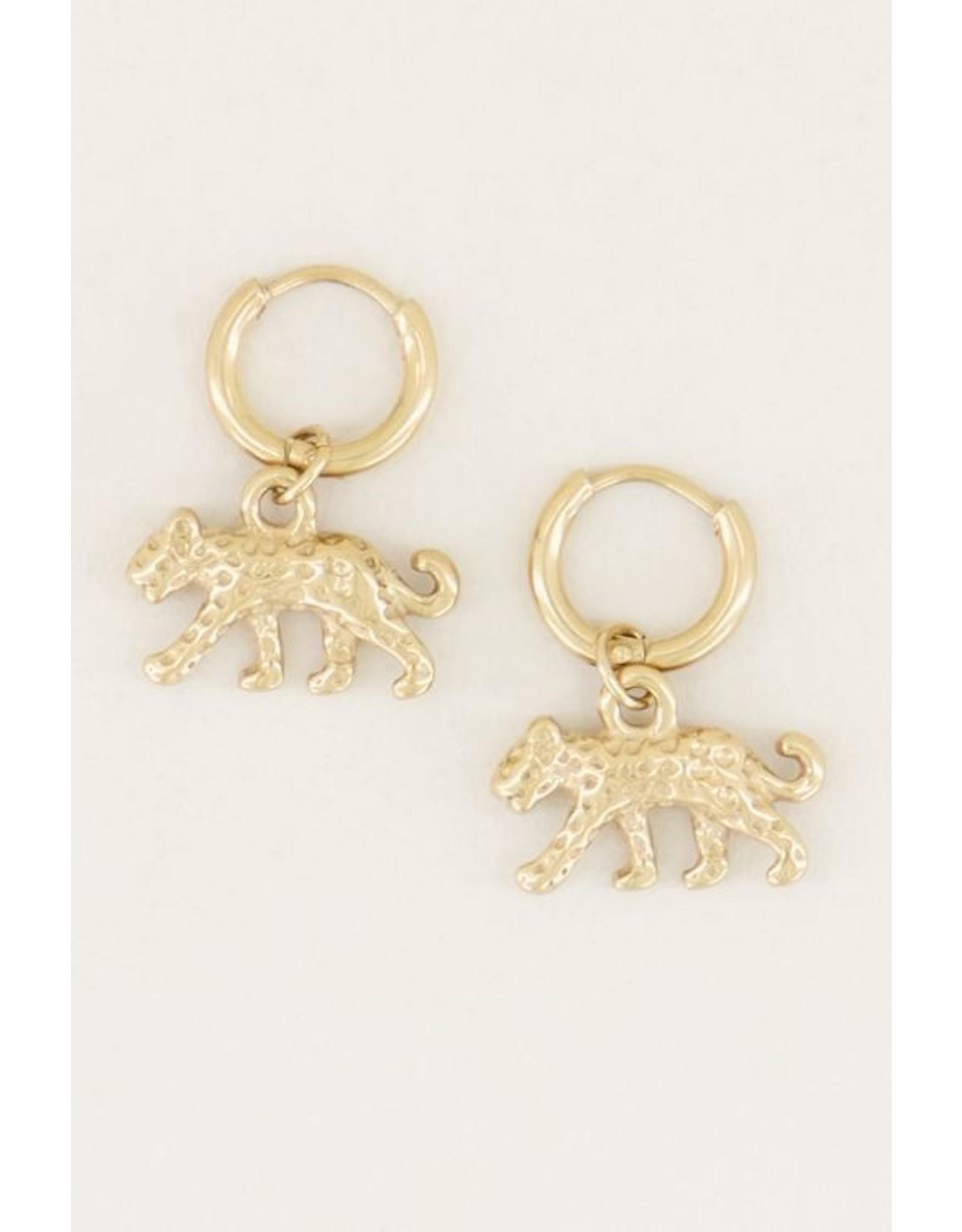 My Jewellery Oorringen Luipaard goud