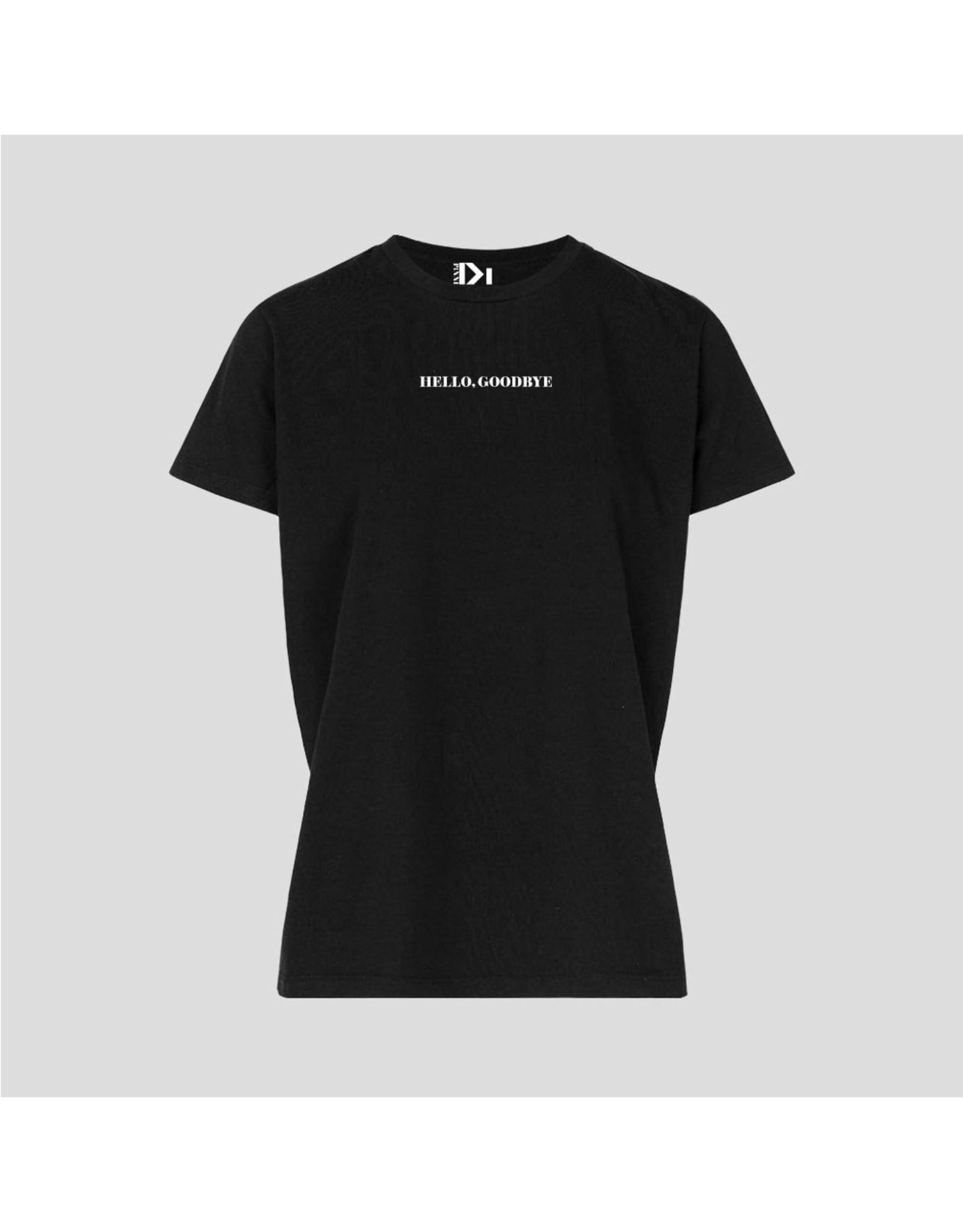 Pinned by k T-Shirt Hello Goodbye Black