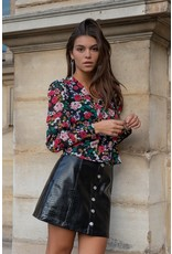 Colourful Rebel Paloma Button Down Skirt Black