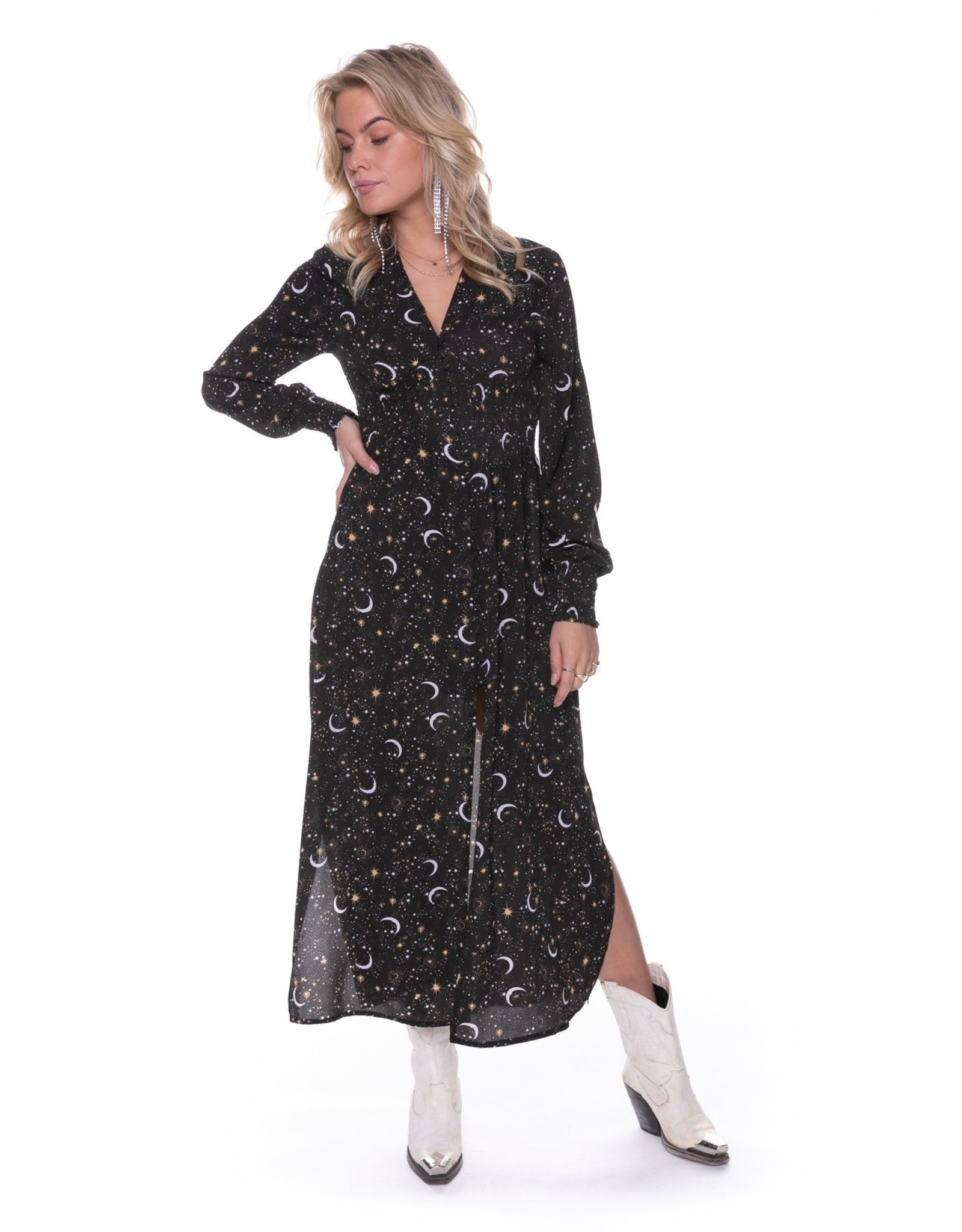Colourful Rebel Harper Star Maxi Dress Black