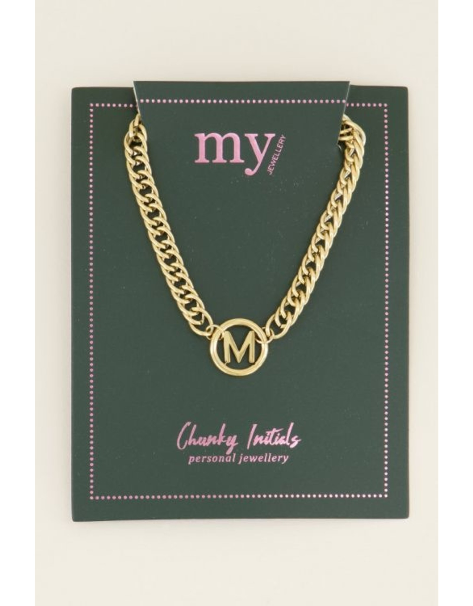 My Jewellery Ketting Chunky Initials