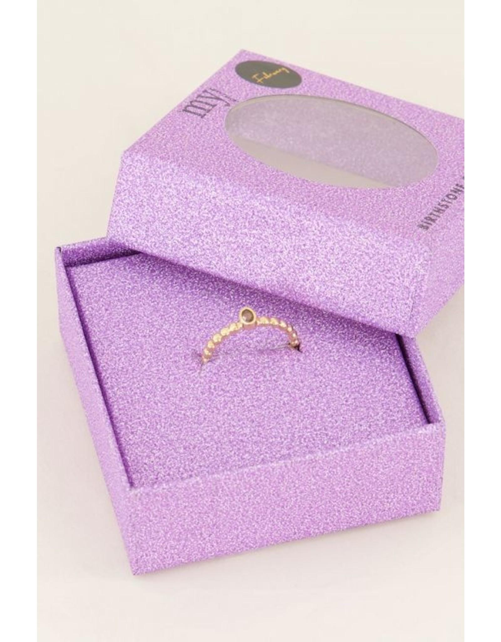 My Jewellery Geboortesteen Ring Februari Goud 138791