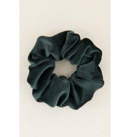 My Jewellery Scrunchie Velvet Donkergroen