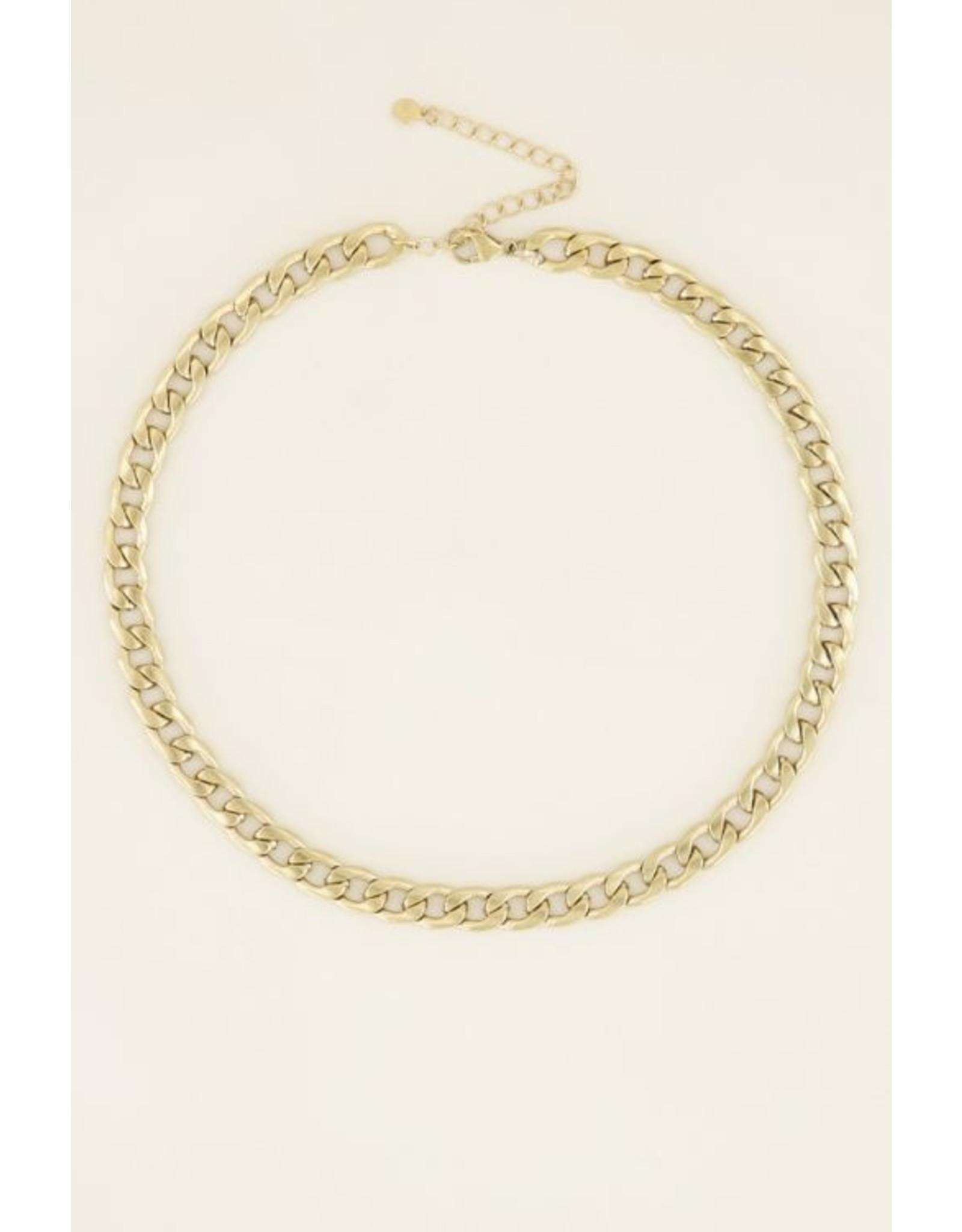 My Jewellery Ketting met Platte Schakels Goud 143689