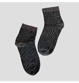 Pinned by k Zebra Socks Black