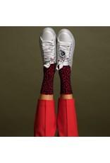 Pinned by k Red Leopard Socks