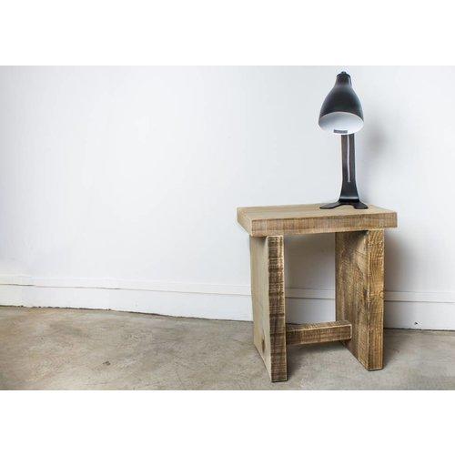 PURE Wood Design Kruk scheepshout met overstekend blad