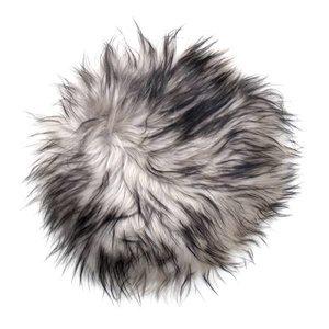 HK Living IJslandse schapenvacht stoel cover - grijs
