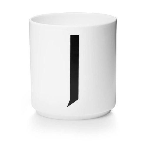 Design Letters Aj porseleinen mok - J