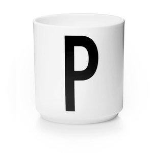 Design Letters Aj porseleinen mok - P