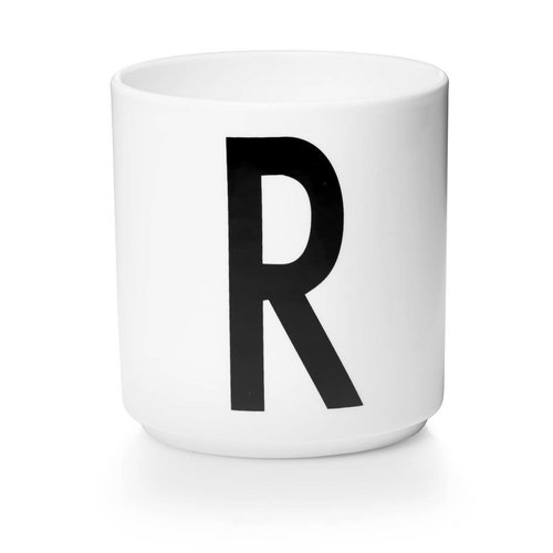 Design Letters Aj porseleinen mok - R